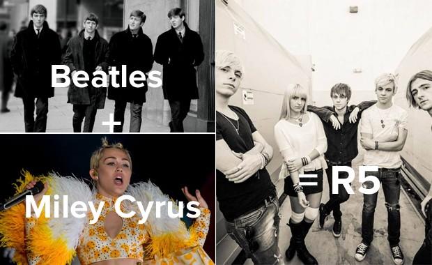 O R5 já tocou cover de Miley Cyrus e tem fãs da mesma faixa etária dela, mas prefere ouvir Beatles e Stones (Foto: Divulgação)