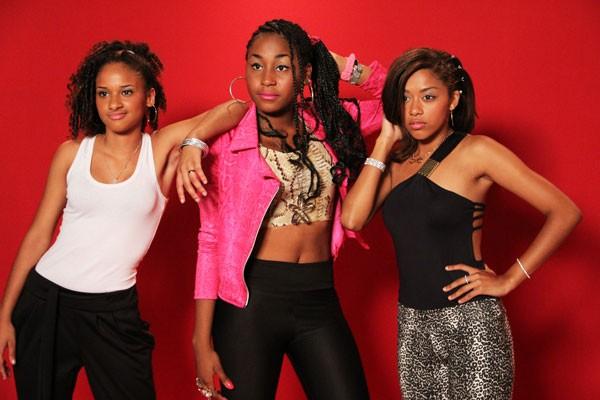 Cantoras do grupo Panteras Negras também está no elenco da nova série (Foto: TV Globo / Vanessa Thees)