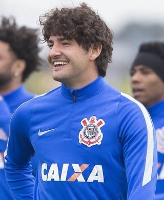 Alexandre Pato treino Corinthians (Foto: Daniel Augusto Jr./Agência Corinthians)