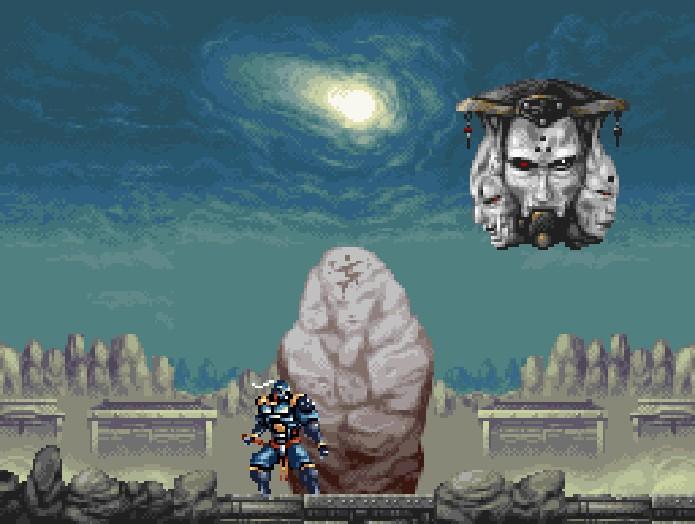 Hagane era um jogo que apostava em no visual com belas composições em pixel art (Foto: Reprodução)