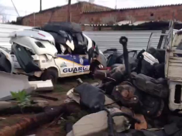 Peças de carros roubados em desmanche do RN (Foto: Divulgação/Polícia Civil)