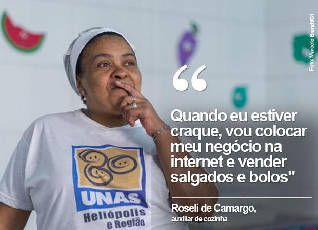 Roseli de Camargo, de 53 anos, quer expandir seus negócios usando as redes sociais (Foto: Marcelo Brandt/G1)