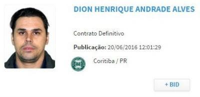 Dion BID Coritiba (Foto: Reprodução)