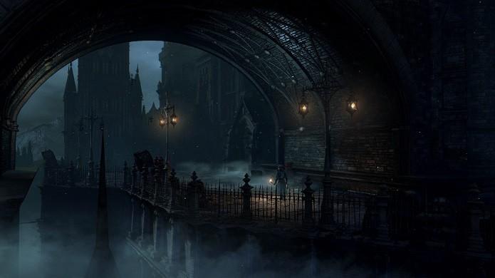 Bloodborne: Game conta com depressivo visual gótico. (Foto: Divulgação)