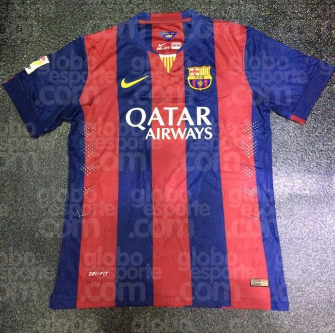 As camisas de Barcelona e Manchester United para a temporada 2014 ... 7e9c5ccb04487