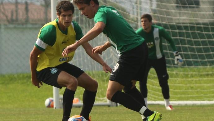 Keirrison Ícaro Coritiba treino (Foto: Divulgação / Site oficial do Coritiba)