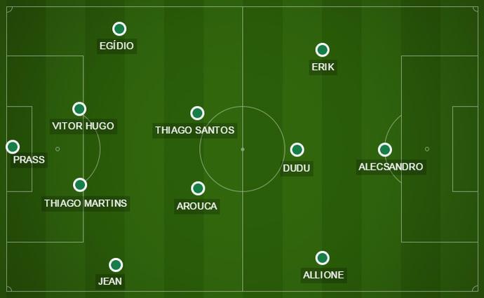 Com as três mudanças feitas no segundo tempo, o volante Jean assumiu a lateral direita do Palmeiras (Foto: GloboEsporte.com)