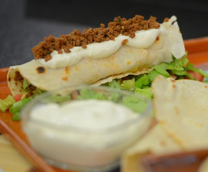 Burrito do Mais Você (Foto: Pedro Carrilho / Gshow)