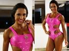 Gracyanne Barbosa exibe músculos marcados e ensina 'abdominal potente'