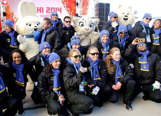 chegada delegação brasileira em Sochi  (Foto: AP)