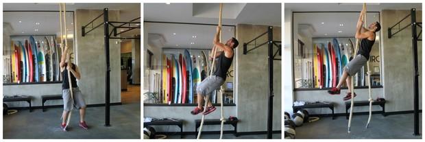 montagem homem corda eu atleta (Foto: Sandro Gama)