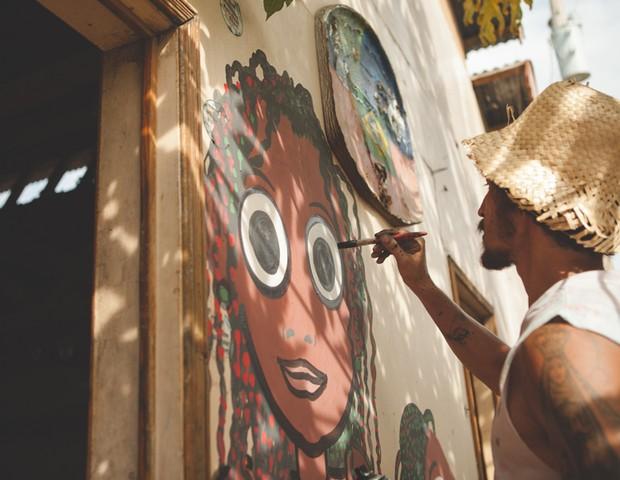 Tatoo espalhando sua arte (Foto: Acervo pessoal)