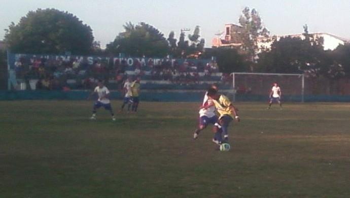 Santarém x Alenquer, abertura da Copa Oeste (Foto: Arney Barreto/TV Tapajós)