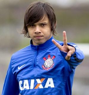 Angel Romero no treino do Corinthians (Foto: Daniel Augusto Jr. / Agência Corinthians)