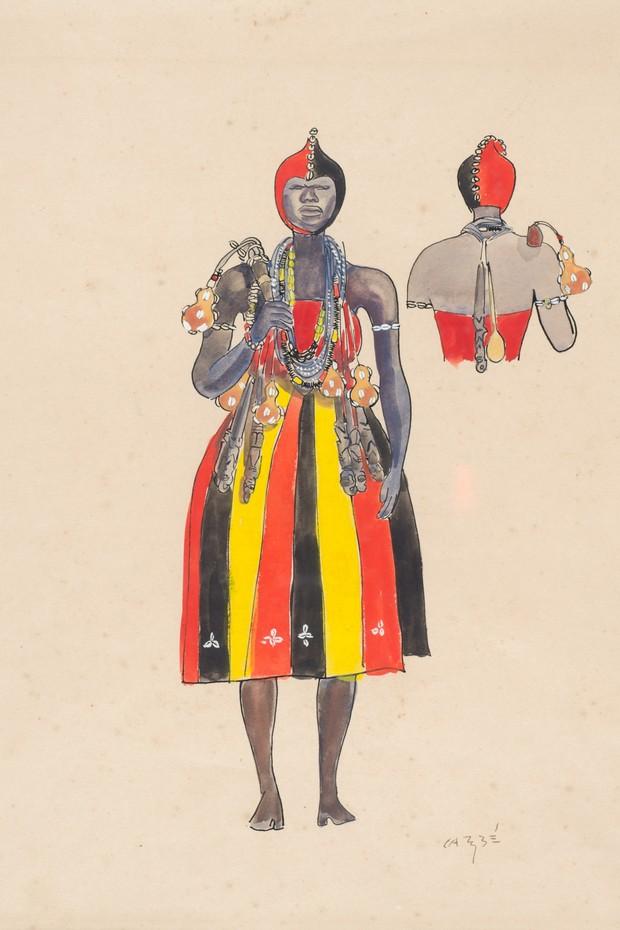 As obras do artista retratam com detalhes as tradições do candomblé  (Foto: Divulgação)