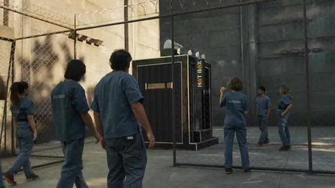 Primeira prova do líder testava resistência dos jogadores em Hot Box (Foto: TV Globo)