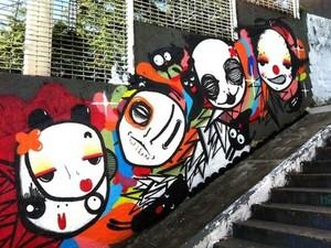 Artista plástica Mari Mats trabalha com street art há 11 anos (Foto: Divulgação)