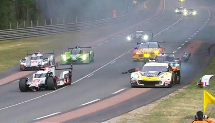 Acidente Audi #8 24 Horas de Le Mans