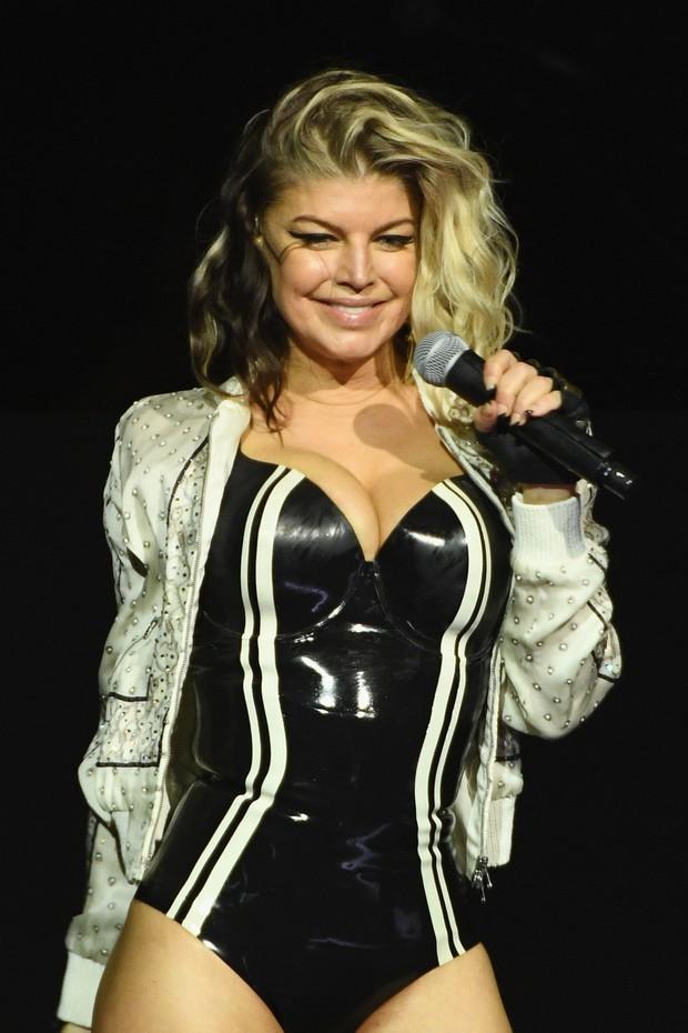 Fergie faz show em Uncasville, nos EUA (Foto: AFP)