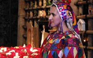 Modelos trouxeram costumes da Guatemala para a festa (Foto: Divulgação/Nathalia Fernades)