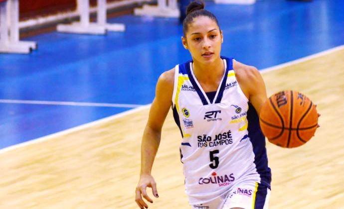 Débora Costa São José Basquete (Foto: Danilo Sardinha/GloboEsporte.com)