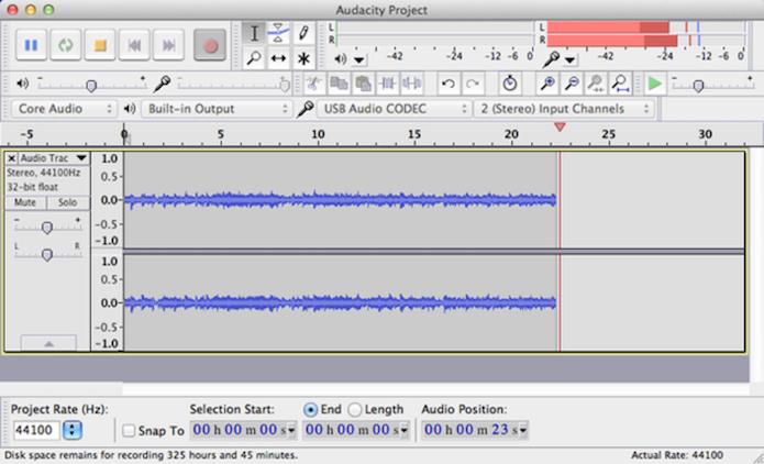 Audacity é um editor de áudio gratuito para PC (Foto: Reprodução/ Marvin Costa)