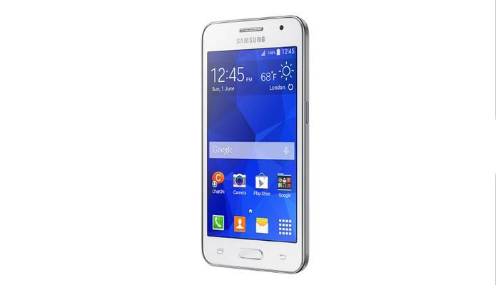 Galaxy Core 2 vem com processamento básico e Android desatualizado (Foto: Divulgação/Samsung)