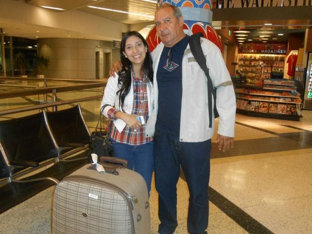 Amanda e o seu pai, João, não se viam há um ano (Foto: Amanda Parris / Acervo Pessoal)