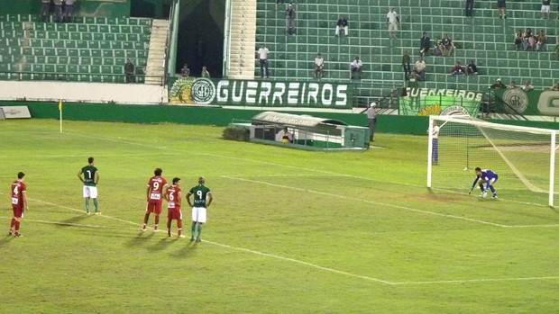 Wellington Simião gol Guarani x Mogi Mirim Série C (Foto: Warley Menezes / Guarani FC)