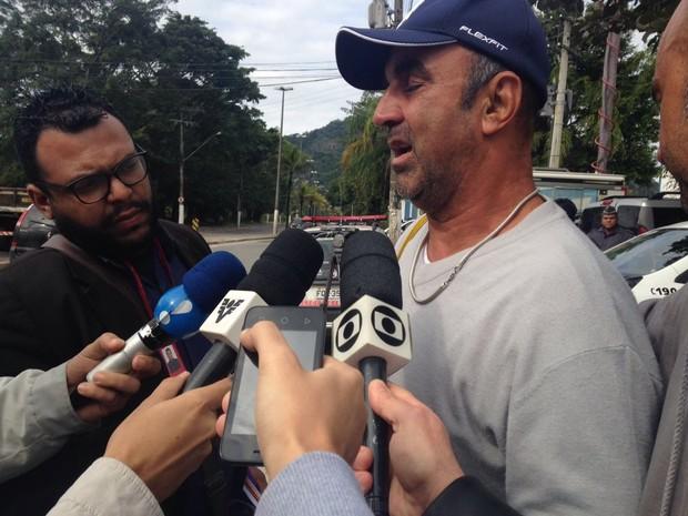 Marcos lamentou a morte da filha e criticou o motorista (Foto: João Paulo de Castro / G1)
