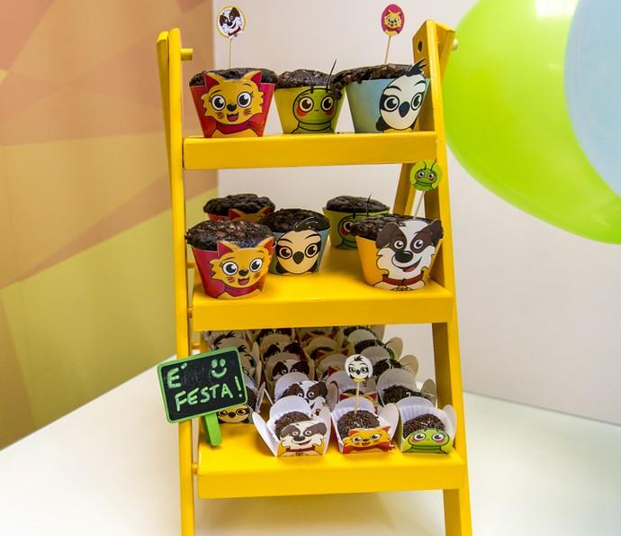 Tem forminhas para docinhos e cupcakes, tags e muito mais (Foto: Isabella Pinheiro/Gshow)