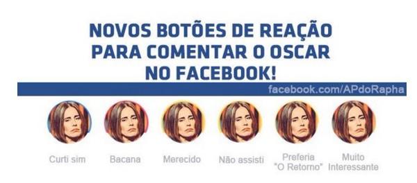 Internautas brincaram as novas reações que o Facebook disponibilizou recentemente para as curtidas (Foto: Reprodução)