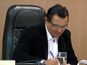 O prefeito interino de Americana, Paulo Chocolate, do PSC (Foto: Reprodução EPTV)