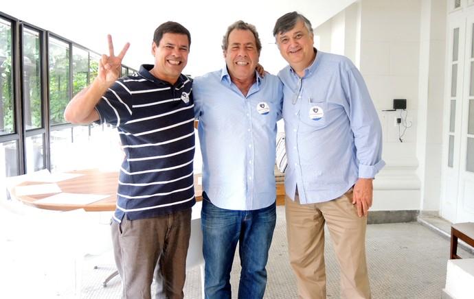 Thiago Alvim, Durcesio Mello e Carlos Augusto Montenegro botafogo (Foto: Jessica Mello)
