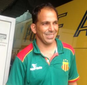 Goleiro do Sampaio, Rodrigo Ramos, já atuou no futebol tocantinense (Foto: Vilma Nascimento/GloboEsporte.com)