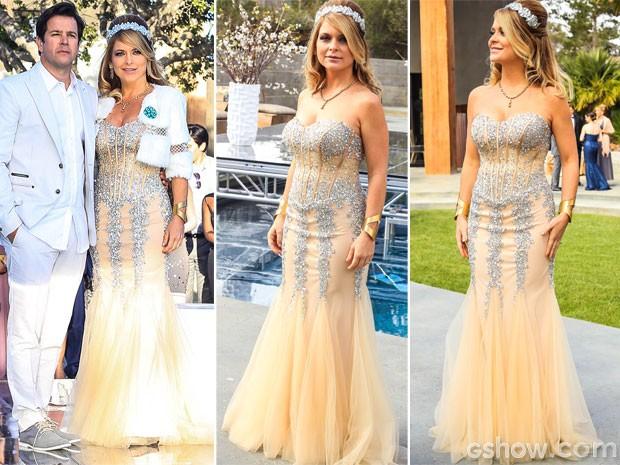 Luxo total o vestido de Pamela Parker-Marra (Foto: Geração Brasil / TV Globo)
