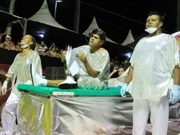 Imperatriz Corumbaense no desfile das escolas de samba do carnaval 2015 (Foto: Clóvis Neto/PMC)