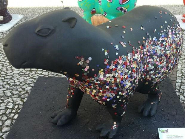 As peças são levadas para diferentes pontos da cidade (Foto: Alana Fonseca/G1)