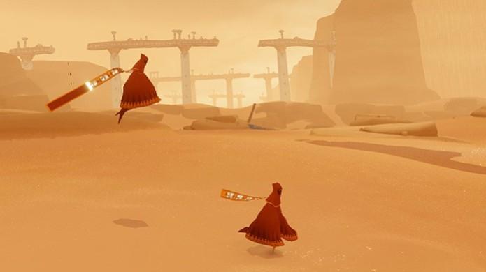 Journey estará presente para o PlayStation 4 durante a feira Gamescom (Foto: Divulgação) (Foto: Journey estará presente para o PlayStation 4 durante a feira Gamescom (Foto: Divulgação))
