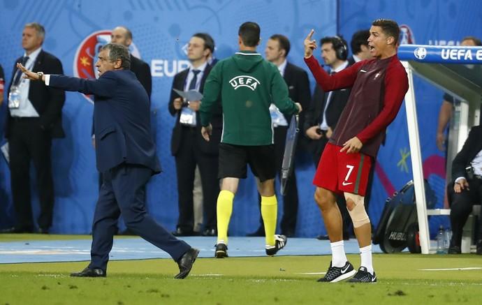 Cristiano Ronaldo Portugal x França final Eurocopa (Foto: Reuters)