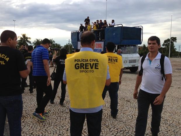 Reunião entre sindicato e governo não teve acordo (Foto: João Guilherme Lobasz/G1)
