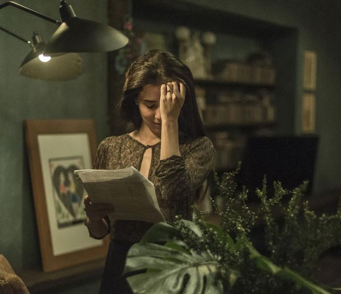 Marjorie ensaia as cenas de Beatriz (Foto: Ellen Soares/Gshow)