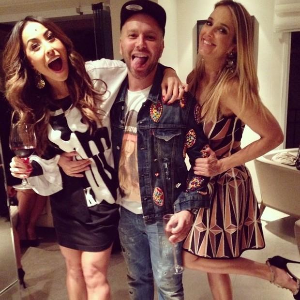 Sabrina Sato, Matheus Mazzafera e Ticiane Pinheiro em festa em São Paulo (Foto: Instagram/ Reprodução)