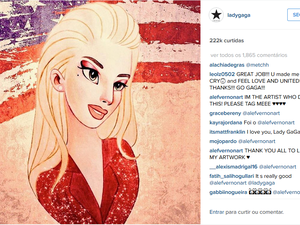 Lady Gaga publicou ilustração feita por amazonense (Foto: Reprodução/Instagram)