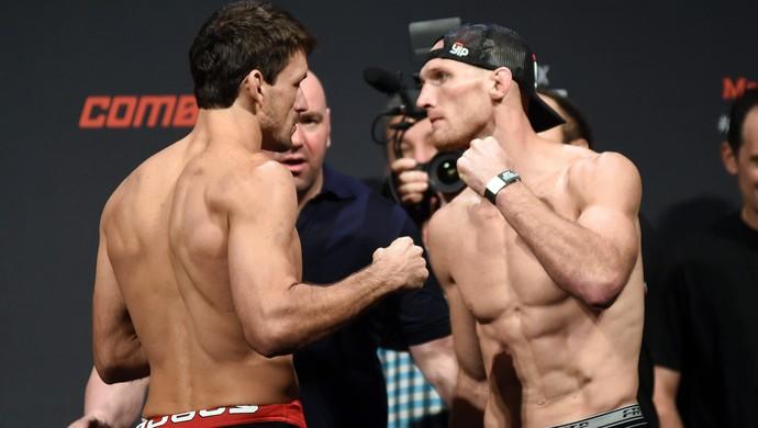 Pesagem Maia x LaFlare UFC (Foto: André Durão)