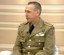 Coronel Valdemir Cabral, novo comandante da PMSC (Foto: Reprodução/RBS TV)