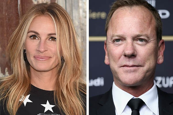 Julia Roberts e Kiefer Sutherland (Foto: Getty Images)