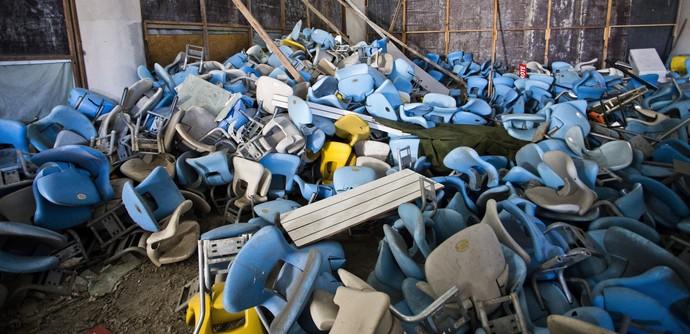 Maracanã abandonado (Foto: Foto: Guito Moreto / Agência O Globo)