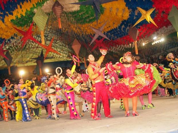 Apresentação realizada em 2013, em Fortaleza (Foto: Junina Babaçu/Divulgação)