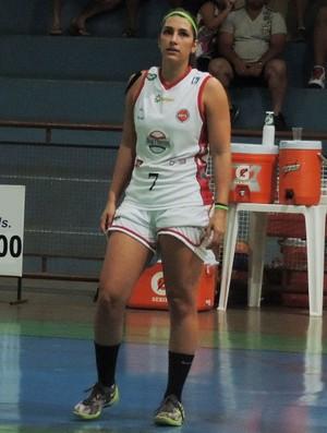 Mariana Camargo e Natália Burian - basquete feminino de Venceslau na estreia do Paulista (Foto: João Paulo Tilio / GloboEsporte.com)